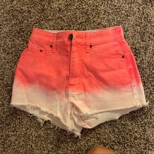 Urban Outfitters Pink and White Jean Shorts